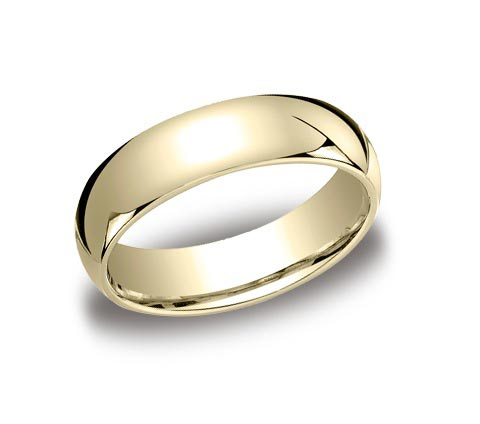6mm wide 14K yellow gold comfort fit band. THE ORIGINAL! Available almost ANY width, any metal you can think of!